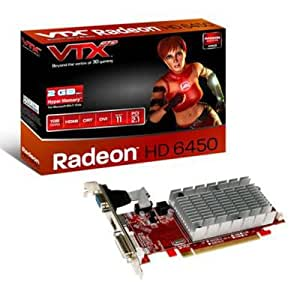 VTX3D AMD Radeon 1GB HD 6450 Silent Graphics Card (DDR3, HDMI, DVI-I, PCI-Express 2.1, DirectX 11.0, AMD HD3D Technology)