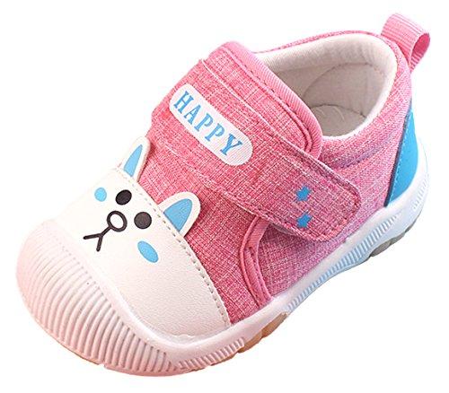 379b26f20a653 Eozy Chaussures Premiers Pas Bébé Fille Garçon Scratch Souple Antidérapant