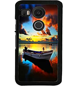 ColourCraft Beautiful Boat Design Back Case Cover for LG GOOGLE NEXUS 5X
