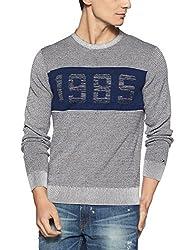 Tommy Hilfiger Mens Cotton Sweater (8907504767090_A7AMS129_XL_Sky Captain)