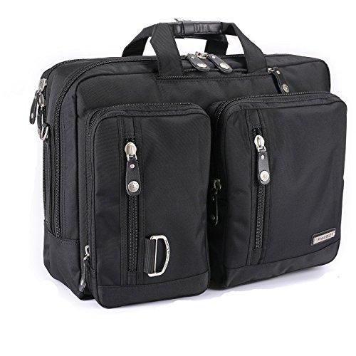 FreeBiz 18-Zoll-Laptop-Tasche Multifunktions -Laptop-Aktenkoffer -Rucksack mit Tragegriff und Schultergurt Passend bis zu 18,4 Zoll Gaming Laptops für Dell, Asus.Msi (18,4 Zoll, Schwarz) (18 Notebook-rucksack)