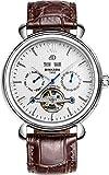 binkada Automatische Mechanische weißes Zifferblatt Herren Wrsit Armbanduhr # 7064b02–1