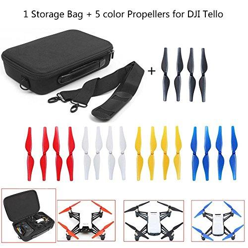 Joint Victory Shoulder Storage Bag Handbag Carrying Case & 5 Sets Colorful Propellers Replacement Blades for DJI Tello Drone (Bag+Propellers) (Fünf Blade-set)