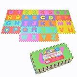 Pink Papaya Puzzlematte XXL mit 86 Teilen für Kinder aus rutschfestem Eva - 3,3m² große Spielmatte, zusammensteckbar - jedes Teil 30 x 30 x 1 cm - Kinderteppich, Puzzle mit Zahlen und Buchstaben