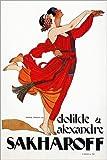 Posterlounge Alu Dibond 40 x 60 cm: Tanz-Plakat 1921 von Alexander and Clotilde Sakharoff/Granger Collection
