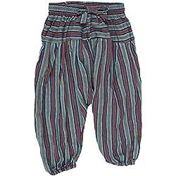Shopoholic Moda Infantil Hippie Harén Holgado Boho Pantalón Hippy Coloridos Infantil Retro Cómodo Pantalón verde verde Small