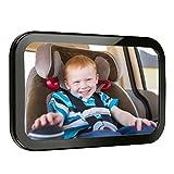 Audew Rücksitzspiegel für Babys Auto Rückspiegel für Kinder Autositz-Spiegel Babyspiegel Sicherheitsspiegel für Babyschale 360° schwenkbar Großes Sichtfeld(290 x 190mm)