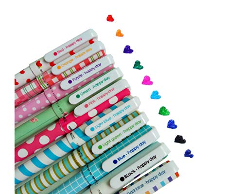 10 Colores Bolígrafos de Gel,plumas de Gel con un Precioso Diseño Animal,Lindos Artículos de Papelería Coreanos Para Niñas,Punta Fina de 0.5 mm