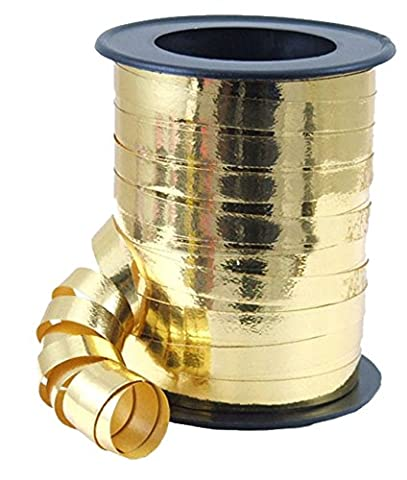 erdbeerloft - Dekoration Geschenkband Metallic Party Geburtstag, Gold