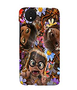 Fuson 3D Printed Funny Faces Designer back case cover for Micromax Android A1 - D4284