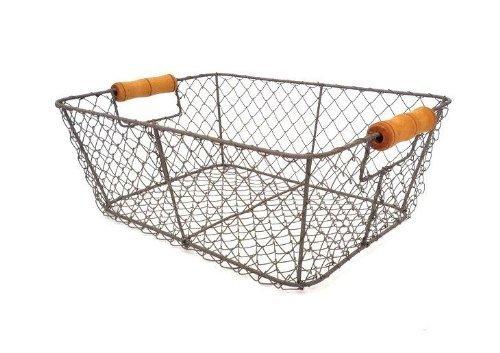 Negro alambre almacenamiento cesta malla metal cajón