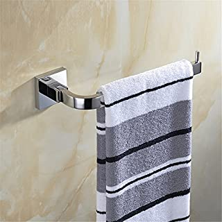 Aothpher Wall Mounted 304 Stainless Steel Bathroom Towel Ring, Chrome Finished Towel Bar