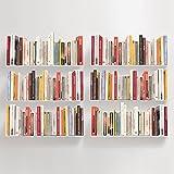 TEEbooks - Set Mir 6 Wandregale, Stahl, Weiß, 60 x 15 x 15 cm