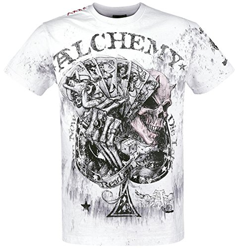 Alchemy England Read'em and Weep T-Shirt bianco M
