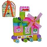 Albagajjar Happy Blocks w/ Stickers | Building Blocks | 58 Pieces