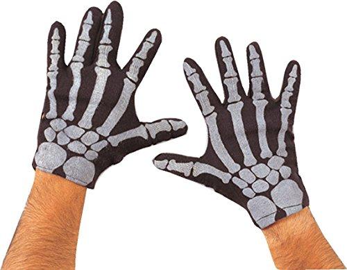 Rubie 's Offizielles Halloween Skelett-Handschuhe Erwachsene (One (Skelett Erwachsene Handschuhe Für)