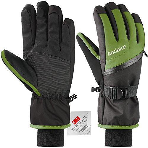 3M Thinsulate Warm Winddicht Wasserdicht Rutschfest Atmungsaktiv Handschuhe Herren Jungen Männer Skihandschuhe Winterhandschuhe Skifahren...