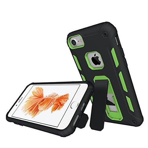iPhone 7 Plus /6S Plus Universal Case Hülle mit Klappständer,EVERGREENBUYING Hybrid Schein iPhone 7+ Tasche Ultra-dünne Schutzhülle Case Cover mit Ständer Etui für iPhone 6 Plus / 7 Plus Blau Grün