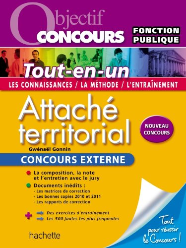 Objectif Concours Attaché Territorial, Concours externe