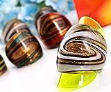 Ecloud Shop 12 X raya de cristal Murano Anillos 4 colores de moda