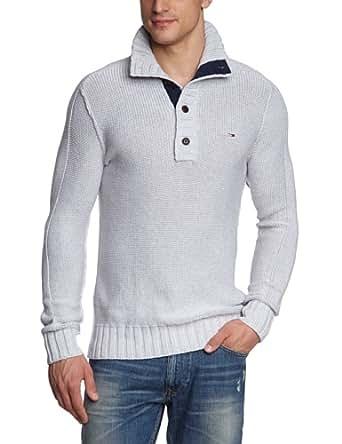 Hilfiger denim - pull - homme - gris (light grey heather) - xxl