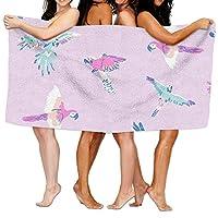 Clothes socks Purple Parrot Tropical Beach Birds Bath Towel Adult Microfiber Towel 31 X 51 Inch Bath Sheet