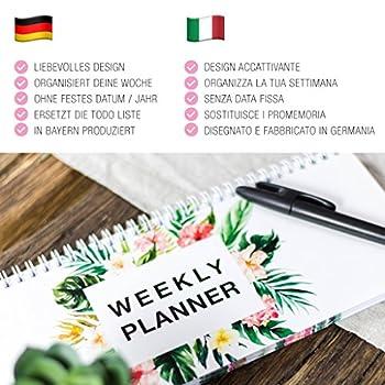 FlamingoKalender Wochenkalender Planer WeeklyPlanner Schulkalender Haushaltsplaner To Do GeschenkZumMuttertag Made In Germany Tischkalender2018 GeschenkFür Mama Grundschule (Flamingo) 9