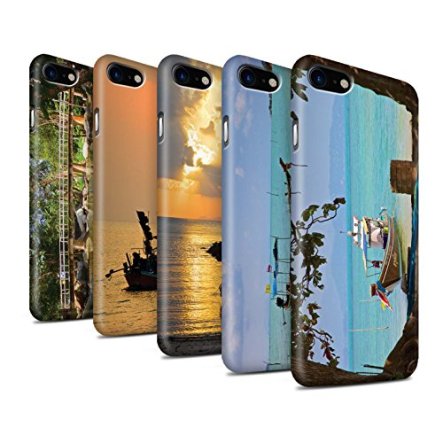 STUFF4 Matte Snap-On Hülle / Case für Apple iPhone 8 / Feuerwerk Muster / Thailand Landschaft Kollektion Pack 15pcs