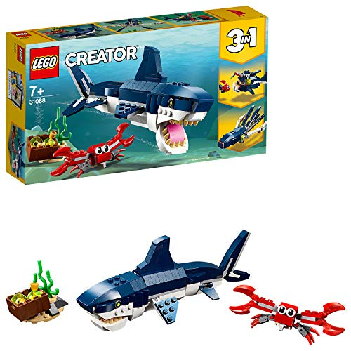 LEGO 31088 Creator 3-in-1 Deep Sea Creatures Building Kit, Colourful Best Price and Cheapest
