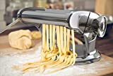 bonVIVO® Pasta Mia (NEUES DESIGN) Nudelmaschine aus Edelstahl in Chrom-Look, für den italienischen Pasta-Genuss aus der eigenen Küche, mit rutschfesten Ansaugsockel - 7