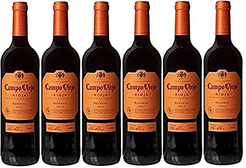 6x 0,75l - 2010er* - Campo Viejo - Reserva - Rioja D.O.Ca. - Spanien - Rotwein trocken