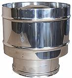 MISTERMOBY SOMBRERETE ANTIRREVOCO CERTIFICADO ACERO INOX TUBOS DE CHIMENEA 250 MM HEMBRA