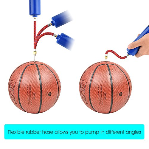 FEPITO 14 Pcs Inflatable Tools Set Inflator Ball Pump Needles  Flexible Hose Nozzle Basketball  Soccer Ball  Volleyball  Rugby  Water Polo Ball