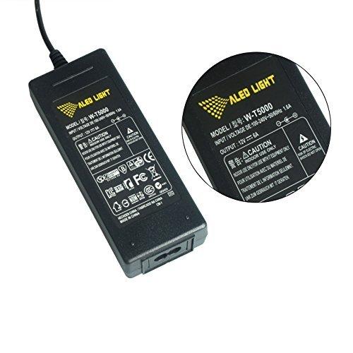 ALED LIGHT® 12V 6A AC / DC Netzteil Eurostecker für Streifen LED-Streifen-Licht-5050; 3528; RGB; Kaltes Weiß; warmes Weiß (Energieversorgung)