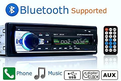 free-air Bluetooth Fernbedienung Auto Stereo Lautsprecher FM USB SD Imput AUX Receiver USB MP3Radio Player 12V 1DIN