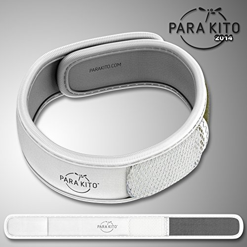 Imagen de para'kito parakito  proteccion natural antimosquito  kit 2 x pulsera repelente de mosquitos blanca y negra + 1 x recarga pulsera alternativa