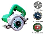 #4: DIY Engineers 1050-1152 W Heavy Duty 4-inch Marble/Wood/Iron Cutter with 5 Wheels (Plastic, Green)