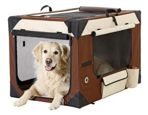 Karlie Flamingo 31380 - Smart Top De Luxe - Hunde Transportbox - 61 x 46 x 43 cm, beige / braun