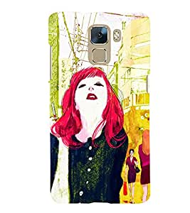 TOUCHNER (TN) Colorfull Life Back Case Cover for Huawei Honor 7