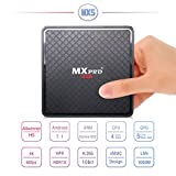 Android7.1 Set-Top-Box 2.4G / 5G Dual Wifi Mit 1GB DDR4 8GB EMMC 4K Das Netzwerk Ausgestrahlt High-Definition-TV-Box Media-Player,Black