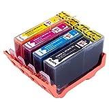 Set di 4cartucce d' inchiostro compatibili ad alta capacità di ricambio per HP 364XL
