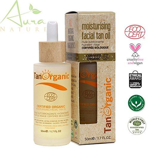 Tan Organic huile auto bronzante visage