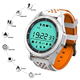 Qimaoo - Sport-Smartwatch Qimaoo F3, Bluetooth 4.0, Fitness-Tracker, Synchronisierung mit Smartphone, Anruf, SMS, Erinnerung, Schrittzähler, Klettern, Laufen, Wandern, Sportuhren für IOS oder Android