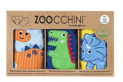 zoocchini 100% coton bio Formation pants-boys (3-Longue) -jurassic Pals