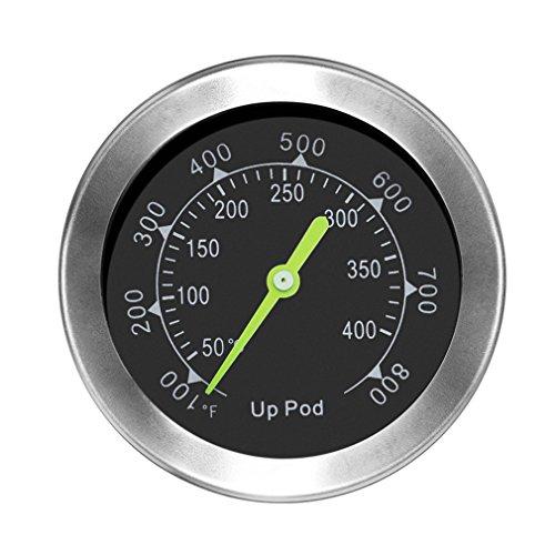 Grillthermometer, Thermometer für den Ofen, Gewindedurchmesser 7,5 mm mit Rosette, Grillen, Backen, Ofen und Räucherofen (Bis zu 400 °C) (1)