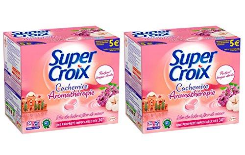 SUPER CROIX - Lilas des Indes et Fleurs de Coton - 36 Tablettes - Lot de 2