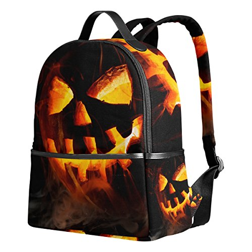 Ahomy Schulrucksack, Halloween, Jack-O'-Lantern Büchertasche, Reisen, großer lässiger Rucksack, Tagesrucksack für Teenager, Mädchen und Jungen (Niedliche Lanterns O Halloween-jack)