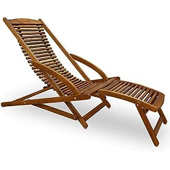 Fauteuil de jardin adirondack chaise longue inclinable for Chaise longue en bois avec repose pied