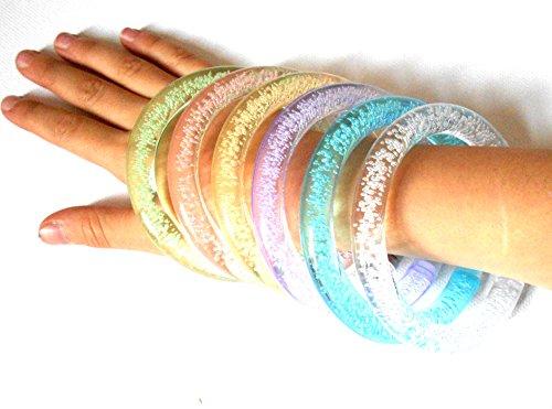Preisvergleich Produktbild PRESKIN - LED Armreif Set (5 Stück), leuchtender Armring, Party Armband, bunt blinkender Schmuck für Rucksack, Fahrrad, Kind und Hund