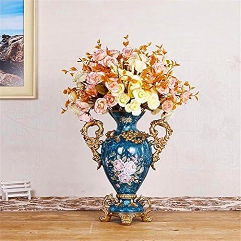 Accueil Vase style européen Résine Creative salon de luxe Décorations Décoration Rétro